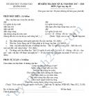 Đề kiểm tra học kì 2 lớp 10 môn Văn - Sở GD&ĐT Quảng Nam 2018