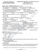 Đề kiểm tra học kì 2 lớp 10 môn Hóa - THPT Liễn Sơn 2018
