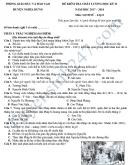 Đề kiểm tra học kì 2 lớp 8 môn Sử - Phòng GD&ĐT Nghĩa Hưng 2018