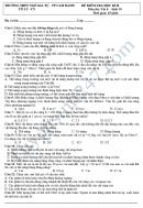 Đề kiểm tra học kì 2 lớp 10 môn Vật lý - THPT Ngô Gia Tự 2018