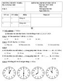 Đề kiểm tra học kì 2 lớp 1 môn Tiếng Việt - Tiểu học Đức Nghĩa 2018