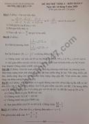 Đề thi thử vào lớp 10 môn Toán THCS Huy Văn 2018