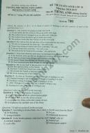 Đáp án đề thi vào lớp 10 môn Anh trường PTNK TPHCM 2018