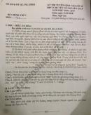 Đáp án đề thi vào lớp 10 môn Văn THPT Chuyên Võ Nguyên Giáp - Quảng Bình 2018