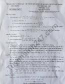 Đề thi vào lớp 10 môn toán - THPT Chuyên tỉnh Bắc Giang