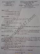 Đáp án đề thi vào lớp 10 môn Toán tỉnh Thanh Hóa 2018