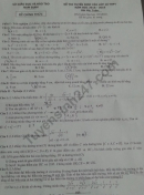 Đáp án đề thi vào lớp 10 môn Toán - Nam Định 2018