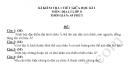 Đề thi giữa kì 1 lớp 8 môn Địa 2018 - THCS Nguyễn Huệ