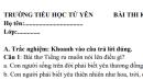 Đề thi giữa học kì 1 môn Tiếng Việt lớp 3 - TH Tứ Yên năm 2018