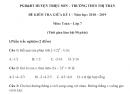 Đề thi giữa kì 1 lớp 7 môn Toán 2018 - 2019 Triệu Sơn