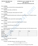 Đề thi thử vào lớp 10 môn Địa - THPT Đồng Đậu năm 2019