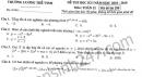 Đề thi kì 1 lớp 12 môn Toán 2018 - 2019 THPT Lương Thế Vinh