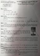 Đề thi kì 1 lớp 9 môn Toán 2018 - Quận 11