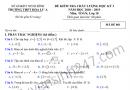 Đề thi học kì 1 môn toán lớp 10 năm 2018 trường THPT Hoa Lư A