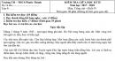 Đề thi giữa kì 2 môn Tiếng Việt lớp 4 - TH Phước Thành
