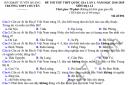 Đề thi thử THPTQG môn Địa 2019 - Chuyên Tuyên Quang lần 1
