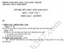 Đề kiểm tra giữa kì 2 lớp 7 môn Văn - THCS Thái Bình