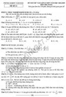 Đề thi thử vào lớp 10 môn Toán 2019 - Tam Đảo
