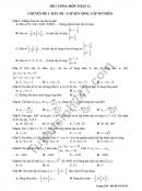 Đề cương ôn tập kì 2 lớp 11 môn Toán - THPT Chu Văn An