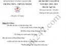 Đề thi thử vào lớp 10 môn Văn 2019 - THCS THPT Hà Thành (Có đáp án)
