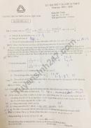 Đề thi thử vào lớp 10 môn Toán THPT Lương Thế Vinh lần 4