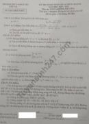 Đáp án đề thi vào lớp 10 môn Toán năm 2019 Sở GD Lào Cai