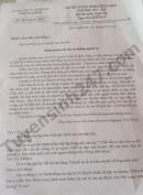 Đáp án đề thi vào lớp 10 môn Ngữ Văn năm 2019 Sở GD Ninh Bình
