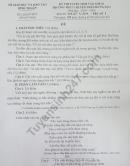 Đáp án đề thi vào lớp 10 môn Văn - Chuyên Bình Thuận 2019