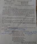Đáp án đề thi lớp 10 môn Văn - Tỉnh Khánh Hòa 2019