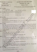 Đáp án đề thi vào lớp 10 môn Toán năm 2019 của Sở GD Vĩnh Long