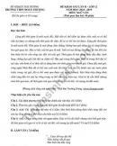 Đề thi thử THPTQG 2019 môn Văn - THPT Đoàn Thượng lần 2