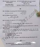 Đáp án đề thi vào lớp 10 môn Toán tỉnh Bình Thuận 2019