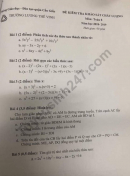 Đề thi khảo sát đầu năm môn toán lớp 8 Trường Lương Thế Vinh 2018