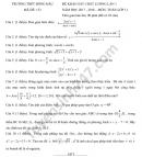 Đáp án đề khảo sát đầu năm lớp 11 môn Toán 2018 THPT Đồng Đậu