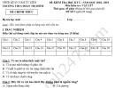 Đề thi kì 1 lớp 7 môn Lý 2018 - 2019 THCS Đoàn Thị Điểm