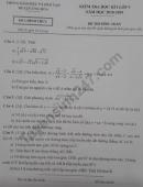 Đề thi kì 1 lớp 9 môn Toán năm 2018 - 2019 huyện Ứng Hòa