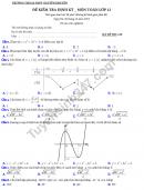 Đề kiểm tra giữa kì 1 lớp 12 môn Toán 2019 - THPT Nguyễn Khuyến