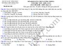 Đề thi thử THPTQG 2020 môn Địa - THPT Đồng Đậu lần 1