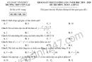 Đề thi thử THPT Quốc gia môn Toán THPT Yên Lạc 2020 lần 1