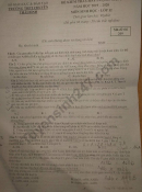 Đề thi thử THPT Quốc gia môn Sinh 2020 - Chuyên Thái Bình lần 1