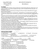 Đề cương ôn tập kì 1 lớp 11 môn Sinh - THPT Đa Phúc năm 2019
