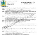 Đề cương Hóa học lớp 10 kì 1 THPT Thuận Thành 2019