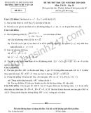 Đề thi thử học kì 1 lớp 10 môn Toán 2019 - THPT Chu Văn An