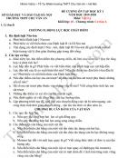 Đề cương cuối kì 1 lớp 10 môn Lý - THPT Chu Văn An  2019