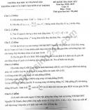 Đề thi kì 1 lớp 11 môn Toán THPT Nguyễn Tất Thành 2019