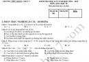 Đề thi kì 1 lớp 10 môn Hóa 2019 - THPT Thống Nhất A