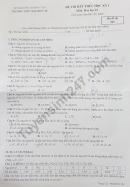 Đề thi học kì 1 lớp 10 môn Hóa 2019 - 2020 THPT Đào Duy Từ