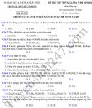Đề thi thử môn Hóa THPTQG lần 1 năm 2020 THPT Lý Thái Tổ