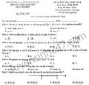 Đề thi học kì 1 môn Toán lớp 10 THPT Chuyên Nguyễn Huệ 2019