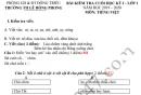 Đề thi kì 1 lớp 1 môn Tiếng Việt 2019 - 2020 TH Lê Hồng Phong